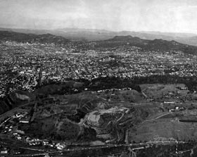 The rugged hills two miles from downtown Los Angeles would become the future home of Dodger Stadium.