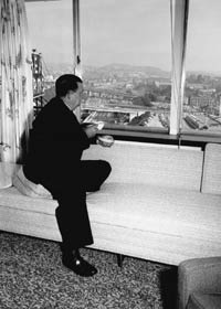 Walter O'Malley worked and resided at the Statler Hotel in Los Angeles, allowing him to completely monitor the nearby Dodger Stadium construction project.