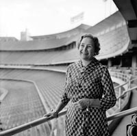 The First Lady of the Dodgers Kay O'Malley always enjoyed her time at Dodger Stadium.