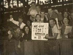 Fans at Ebbets Field watched the Dodgers win four National League Pennants between 1952-56.