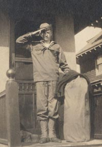Walter O'Malley proudly wears his Boy Scouts of America uniform (circa 1916).