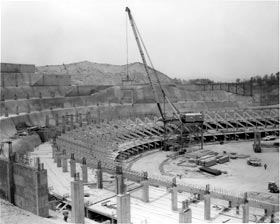 Construction of Dodger Stadium, delayed by additional legal challenges, finally begins in earnest following Labor Day, 1960. The 19-month timetable is short, but O'Malley and the Vinnell Construction team vow to meet the 1962 opening.