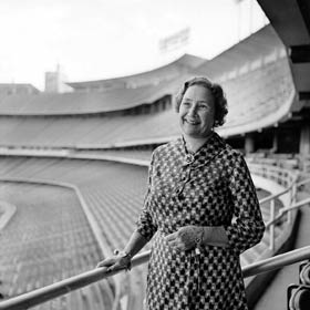 Kay O'Malley spent many a pleasant day at Dodger Stadium, with her husband Walter, their two children Terry and Peter and grandchildren. Kay was active as a community volunteer and, in 1971, received recognition as Los Angeles Times' Woman of the Year.