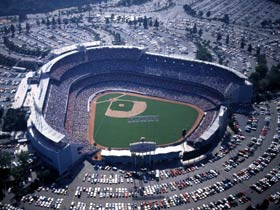 The grandeur of Dodger Stadium, the site of some of baseball's most memorable and exciting moments through the years.