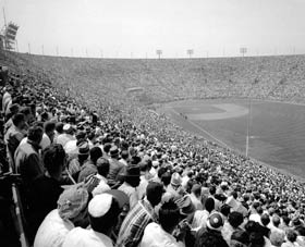 The Dodgers would draw more than 7.9 million fans at the Coliseum from 1958-61.