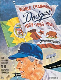 The 1966 Los Angeles Dodgers defended their National League title, but lost in four games in the World Series to the Baltimore Orioles.
