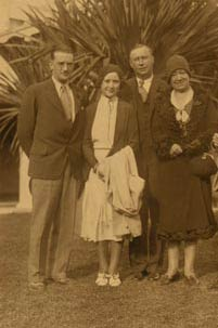 Walter and Kay O'Malley with Kay's parents, Peter and Elizabeth Hanson.