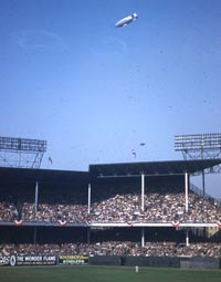 Ebbets Field was one of three major league ballparks in New York, along with Yankee Stadium and the Polo Grounds.