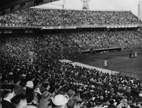 The Brooklyn Dodgers drew overflow crowds throughout their 1956 Japan tour.