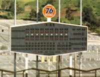 The Union 76 sign was the only in-stadium sign when Dodger Stadium opened in 1962.