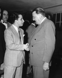 King Faisal II of Iraq visited Walter O'Malley at Ebbets Field on Aug. 13, 1952.
