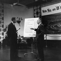 "The Dodgers staged a live, five-hour Dodgerthon on June 1, 1958, two days before the election, explaining their side of the ""Proposition B"" debate on KTTV Channel 11."