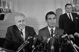 Sandy Koufax announces his retirement following the 1966 season, ending the Hall of Fame pitcher's career at age 31.