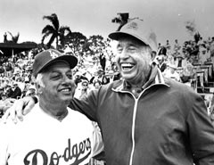 Walter O'Malley selected two Dodger Managers — Walter Alston (right) and Tommy Lasorda -- who would ultimately take their rightful place in the National Baseball Hall of Fame. Alston managed the Dodgers for 23 seasons and won four World Series titles (1955, 1959, 1963 and 1965), while Lasorda managed for 20 seasons and won two World Championships (1981 and 1988).