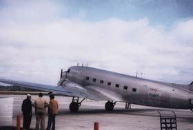 The Brooklyn Dodgers traveled in the early 1950s in their own plane, a Douglas DC-3.