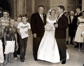 In October 1958, Walter O'Malley's daughter Terry married native Californian Roland Seidler, Jr.