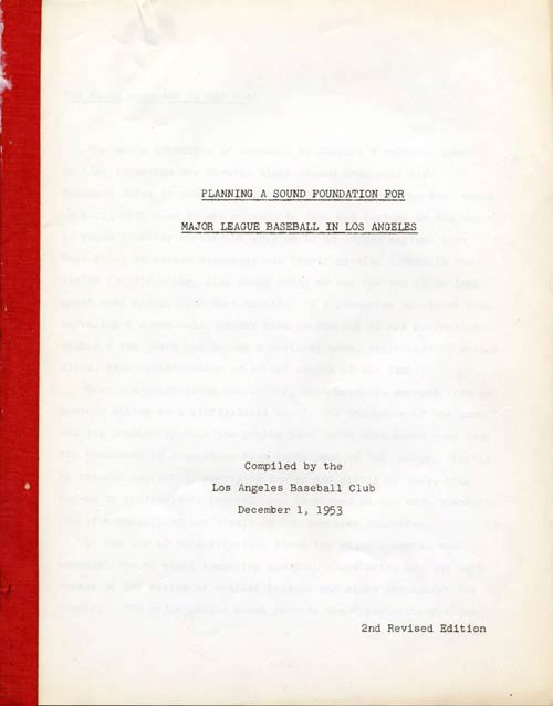 Planning a Sound Foundation for Major League Baseball in Los AngelesA feasibility study for Major League Baseball for the city of Los Angeles 
