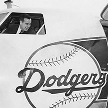 Dodger Planes Take Flight with Holman at Controls
