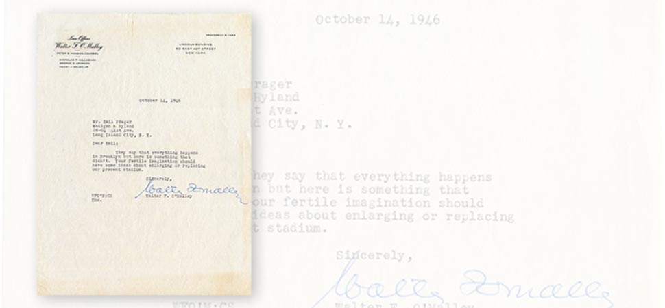 Letter from Walter O'Malley to Emil Praeger