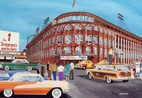 The Dodgers won the 1955 World Championship, while also capturing National League Pennants in 1952, 1953 and 1956. In 1956, Walter O'Malley sold aging Ebbets Field as he tried to find a solution in his quest to build, privately finance and maintain a new domed stadium in Brooklyn.