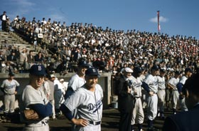 The Brooklyn Dodgers posted a 14-4-1 record during their 1956 Japan tour.