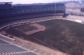 Walter O'Malley's target date for the opening of Dodger Stadium was April 10, 1962.