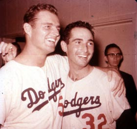 Don Drysdale and Sandy Koufax proved to be a formidable duo away from the pitcher's mound when negotiating their contracts for the 1966 season.
