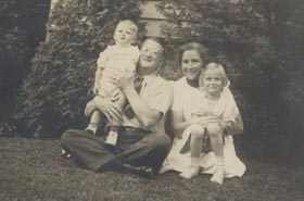 Walter and Kay O'Malley with their children, Peter and Terry, circa 1939.