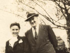 Kay and Walter O'Malley in Amityville, NY.