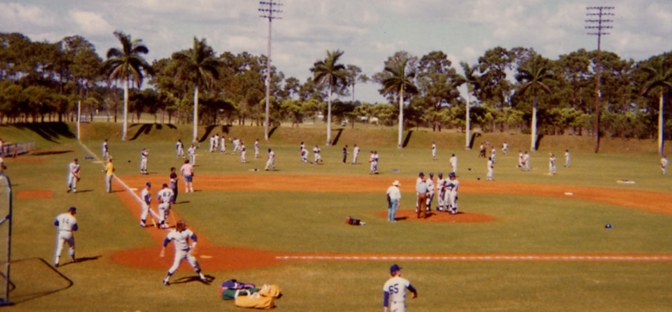 Dodgertown in Vero Beach, FL became the spring training headquarters for the Dodgers and their many minor league teams in 1948. The site, which prepares the Dodger major and minor league clubs for the season, underwent a series of improvements as Walter O'Malley and his family developed, built and maintained the property through the years.