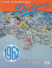 The cover of the 1962 yearbook displays how all roads in Southern California lead to the new Dodger Stadium.