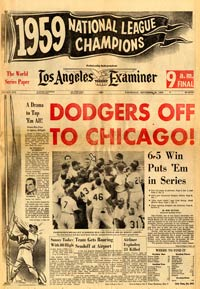 The Los Angeles Examiner afternoon edition says it all. The Dodgers are National League Champions!