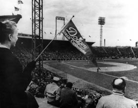 In addition to their Ebbets Field home schedule, the Dodgers played 15 games in Jersey City during the 1956 and 1957 seasons.