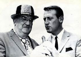 """Vin Scully interviews Walter O'Malley at Dodgertown in Vero Beach, FL. O'Malley once responded to the question, """"Who is the greatest Dodger?"""" by replying, """"It's Scully."""""""