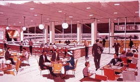 The artist's sketch previews the opportunity for fine dining at the Stadium Club restaurant.