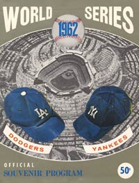 """The Dodgers were on their way to the 1962 pennant and a World Series date with the New York Yankees. The Giants, though, spoiled the party by winning a three-game playoff series. This was a """"phantom"""" 1962 World Series cover that the Dodgers had printed."""