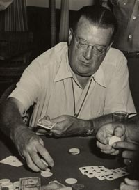 Walter O'Malley always enjoyed playing poker, especially at the team's spring training headquarters in Vero Beach, FL.