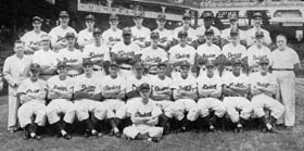 The Brooklyn Dodgers lost a heartbreaking playoff to the New York Giants on Bobby Thomson's ninth-inning home run at the Polo Grounds on Oct. 3, 1951.