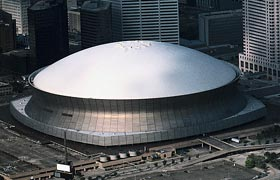 The Louisiana Superdome was the brainchild of New Orleans businessman Dave Dixon, who had the vision of building the finest dome stadium with year-round events. As a young man, Dixon read about Walter O'Malley's interaction with R. Buckminster Fuller to design a dome stadium in Brooklyn. Years later, Dixon built the Superdome and was also the driving force in attracting the NFL to New Orleans in 1966.