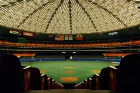The Houston Astrodome, built at a cost of $35 million, was home to the Astros from 1965-99. Before building the Astrodome, Houston owner Judge Roy Hofheinz consulted with Walter O'Malley and what the Dodger President had learned from his early study for a dome stadium in Brooklyn.
