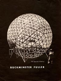 """Whetting Walter O'Malley's appetite for a possible dome stadium in Brooklyn to replace aging Ebbets Field was an article he read titled """"The Dymaxion World of Buckminster Fuller,"""" which was reprinted in American Fabrics, Spring 1953. O'Malley wrote a letter to Fuller on May 26, 1955 to pursue the idea."""