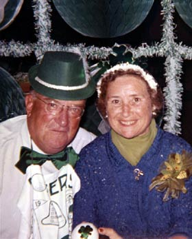 Walter and Kay O'Malley were hosts of the annual St. Patrick's Day parties at Dodgertown.