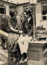 Roz Wyman's parents Sarah and Oscar Wiener, shown here on their honeymoon in Catalina, California, operated a family drugstore on 9th Street and Western Avenue in Los Angeles.