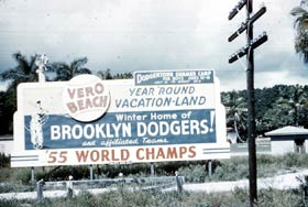 Vero Beach tourism grew largely because of the association with Dodgertown.