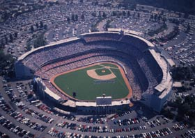 Dodger Stadium and Holman Stadium, designed and constructed similarly, put fans close to the action with unparalleled sightlines.