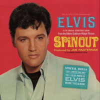 "The soundtrack from the MGM movie ""Spinout"" starring 31-year-old Elvis Presley, who was at Dodger Stadium in the parking lot filming road racing scenes for the movie in March 1966. Songs from the RCA label album, released October 31, 1966, include  ""I'll Be Back,"" ""Never Say Yes,"" and ""Spinout."""