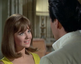 "Shown in one of her scenes with Elvis in ""Spinout,"" Shelley Fabares also starred in two other movies with the King – ""Girl Happy"" in 1965 and ""Clambake"" in 1967."