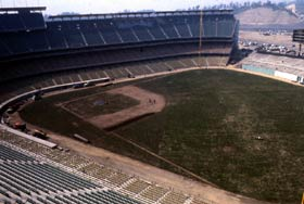 """Dodger Stadium's first event was a """"Grand Opening"""" for elected officials, civic leaders and the community on April 9, 1962 — one day before the season opener with the defending National League champion Cincinnati Reds."""