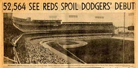 The view from the right-field corner of the Reserved Level provided a postcard view of a packed Dodger Stadium.